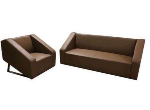 BARRET 3 Seat Leather Sofa With Two Single Seat