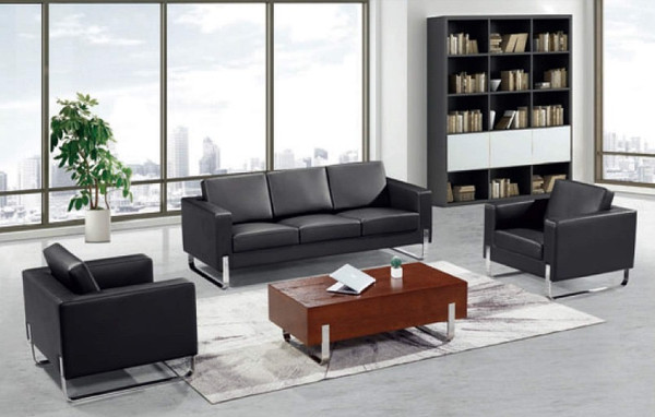 3 Seat Leather Sofa With Two Single Seat