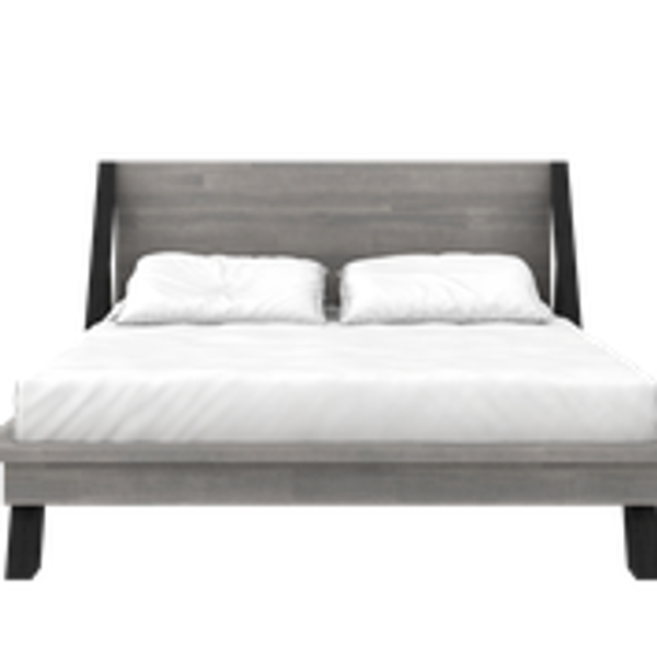 BED FRAME WITH BASE (SILVER GREY AND BLACK OLIVE )