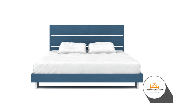 BED FRAME WITH BASE (Ocean Blue)