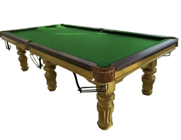 Very Stylist Looking Large 8 Ball Pool Table with Golden Legs !! WAS $3999!! NOW $1999!!