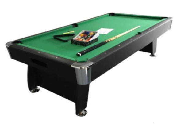 8FT GREEN POOL TABLE WITH TENNIS TABLE TOP