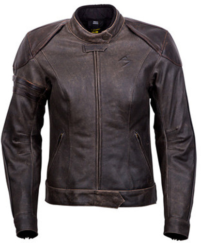 CATALINA BROWN LEATHER WOMEN'S JACKET