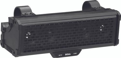 "300 WATTS MAX POWER   14"" AMPLIFIED SOUND BAR FEATURING BUILT-IN CLASS D AMPLIFIER, EXTERNAL BLUETOOTH CONTROLLER AND BUILT-IN DOME LIGHT"