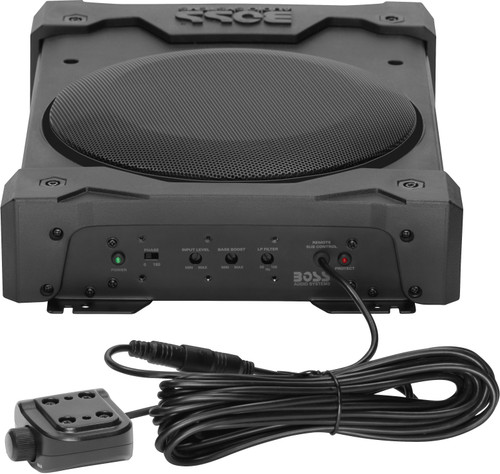 """POWERED UNDER SEAT 8"""" SUB AMPLIFIED AND WEATHERPROOF"""