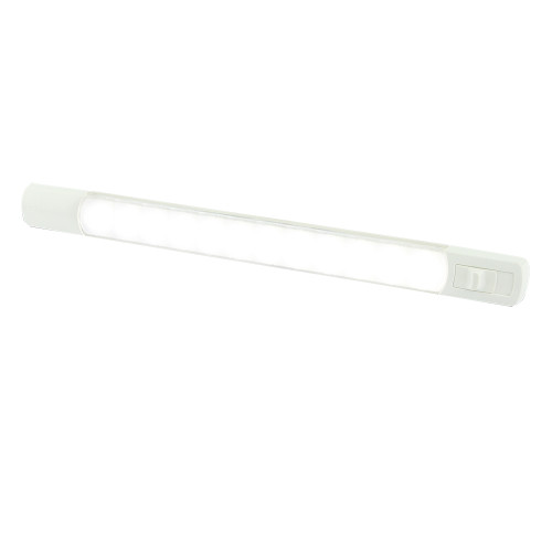 Hella Marine Surface Strip Light w/Switch - White LED - 12V