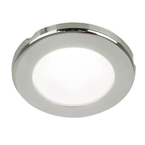 Hella Marine EuroLED 75 3 Round Screw Mount Down Light - White LED - Stainless Steel Rim - 12V