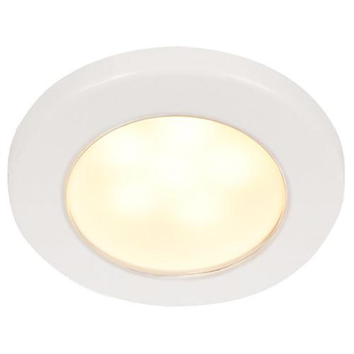 Hella Marine EuroLED 75 3 Round Screw Mount Down Light - Warm White LED - White Plastic Rim - 12V