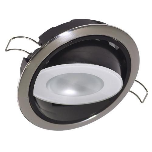 Lumitec Mirage Positionable Down Light - Spectrum RGBW Dimming - Polished Bezel