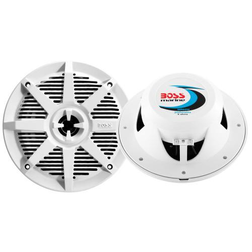 Boss Audio MR62W 6.5 2-Way 200W Marine Full Range Speaker - White - Pair