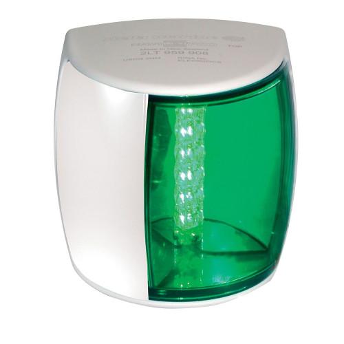 Hella Marine NaviLED PRO Starboard Navigation Lamp - 3nm - Green Lens/White Housing