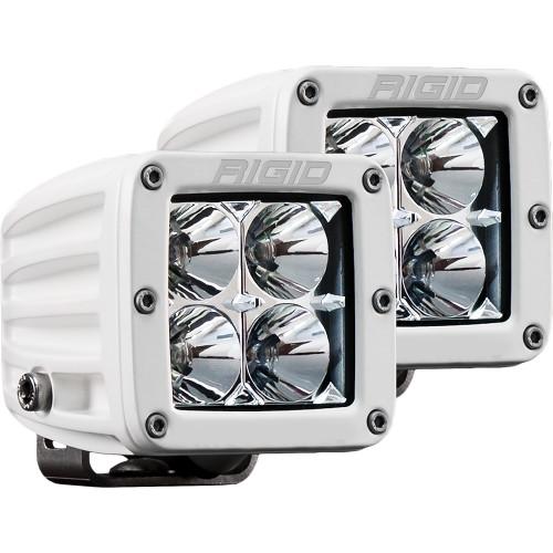 Rigid Industries D-Series PRO Hybrid-Flood LED - Pair - White