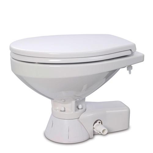 Jabsco Quiet Flush Raw Water Toilet - Regular Bowl w/Soft Close Lid - 12V