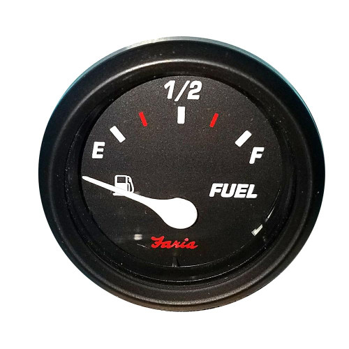 Faria Professional 2 Fuel Level Gauge - Red