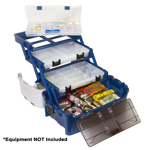 Plano Hybrid Hip 3-Stowaway Tackle Box 3700 - Blue