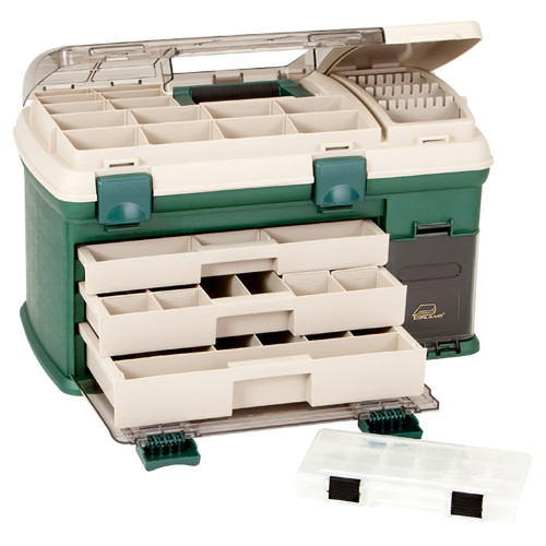 Plano 3-Drawer Tackle Box XL - Green/Beige