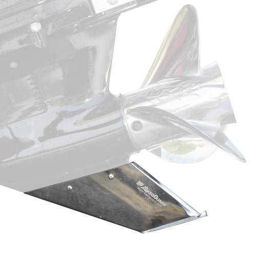 MegawareSkegGuard - Stainless Steel - Evinrude 135-150-175-200 25 or 30 Shaft 2 Stroke 2006-Present 225-250-300 2 Stroke 2002-Present  Johnson 135-150-175-200 25 or 3