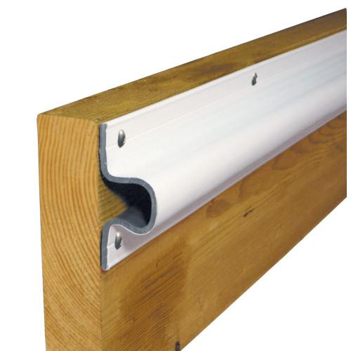 Dock Edge C Guard PVC Dock Profile - (4) 6' Sections - White