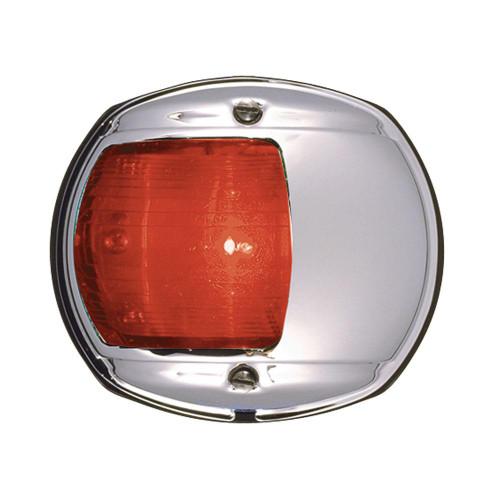 Perko LED Side Light - Red - 12V - Chrome Plated Housing