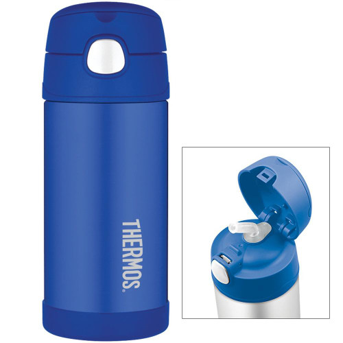 Thermos FUNtainer Stainless Steel, Insulated Straw Bottle - Blue - 12 oz.