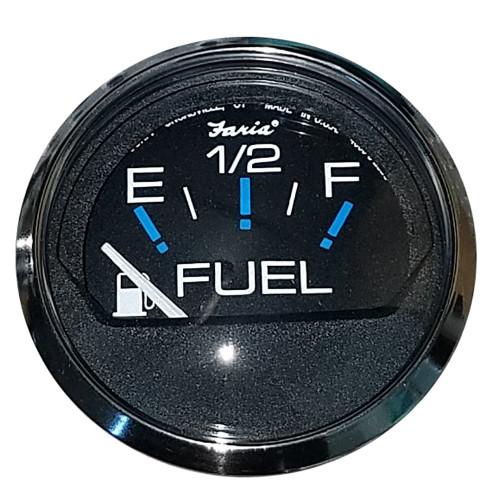 Faria Chesapeake Black SS 2 Fuel Level Gauge (E-1/2-F)