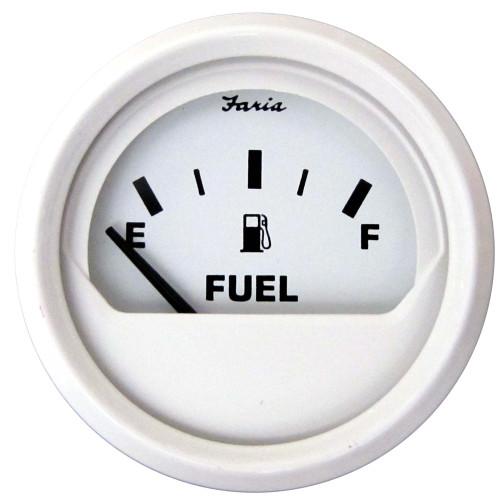 Faria Dress White 2 Fuel Level Gauge (E-1/2-F)