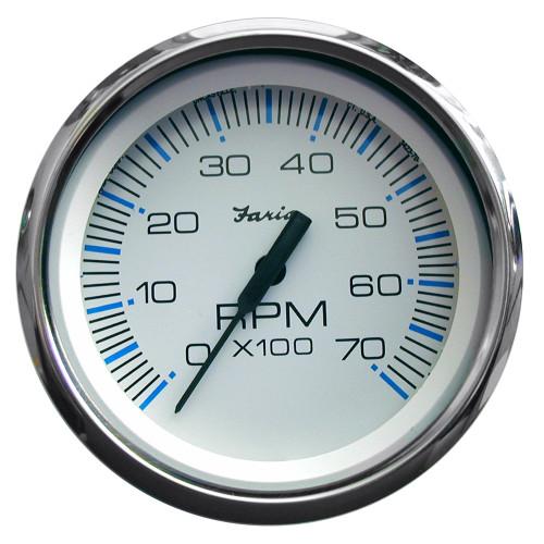 Faria Chesapeake White SS 4 Tachometer - 7,000 RPM (Gas - All Outboards)