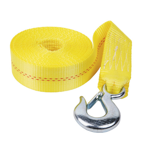 """Fulton 2"""" x 20' Heavy Duty Winch Strap and Hook - 4,000 lbs. Max Load"""