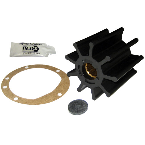 """Jabsco Impeller Kit - 9 Blade - Nitrile - 3-3\/4"""" Diameter x 3-1\/2"""" W, 1"""" Shaft Diameter"""