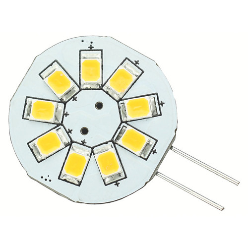 Lunasea G4 8 LED Side Pin Light Bulb - 12VAC or 10-30VDC/1.2W/123 Lumens - Warm White