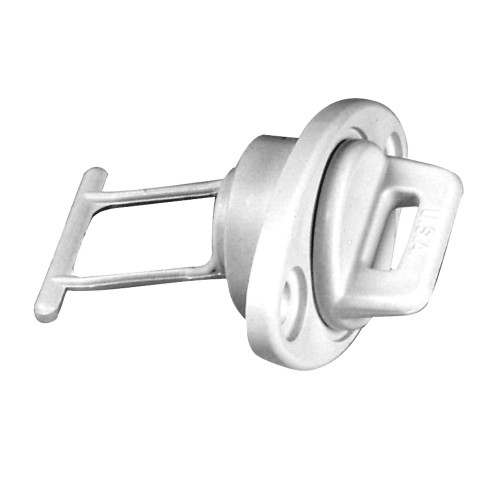 Beckson 1 Drain Plug Screw Type w/Gasket - White