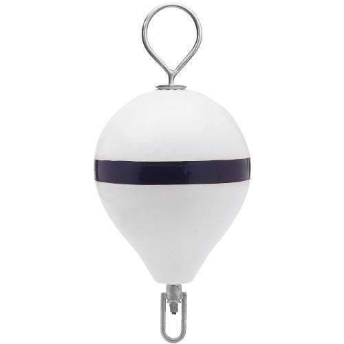 Polyform Mooring Buoy w/SS 17 Diameter - White Blue Stripe