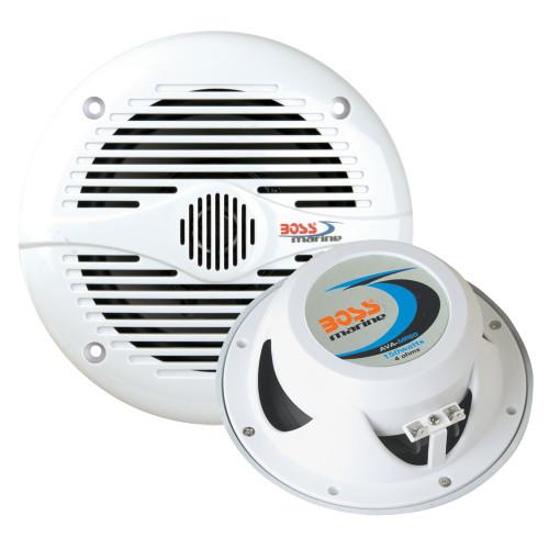 Boss Audio MR50W 5.25 Round Marine Speakers - (Pair) White