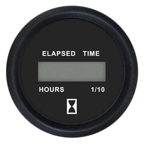 Faria 2 Digital Hourmeter Gauge - 12-32V - Euro Black