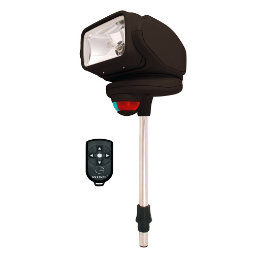 Golight Gobee Stanchion Mount w/Wireless Remote - Black