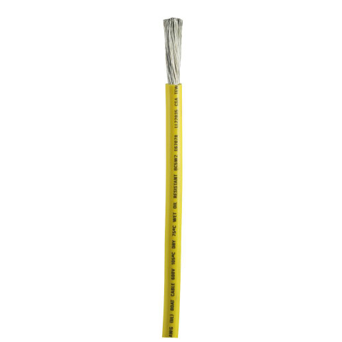 Ancor Yellow 2 AWG Battery Cable - Sold By The Foot