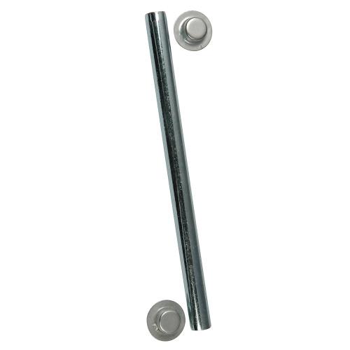 C.E. Smith Package Roller Shaft 1/2 x 5-1/4 w/Cap Nuts - Zinc