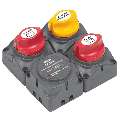 BEP Square Battery Distribution Cluster f\/Single Engine w\/Two Battery   Banks