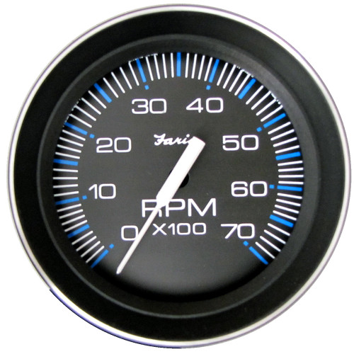 Faria 4 Tachometer (7000 RPM) (All Outboard) Coral w/Stainless Steel Bezel