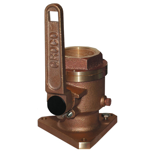 "GROCO 1"" Bronze Flanged Full Flow Seacock"
