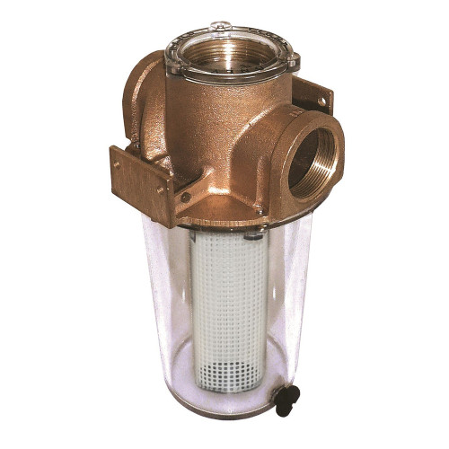 "GROCO ARG-500 Series 1/2"" Raw Water Strainer w/Non-Metallic Plastic Basket"
