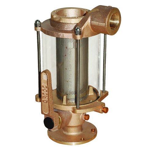 """GROCO 3/4"""" Ball Valve/Seacock & Raw Water Strainer Combo"""
