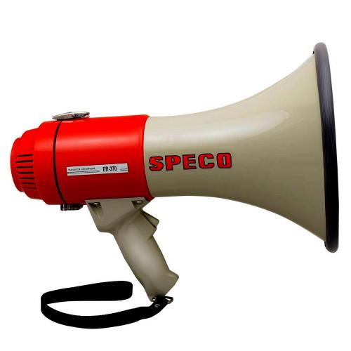 Speco ER370 Deluxe Megaphone w/Siren - Red/Grey - 16W
