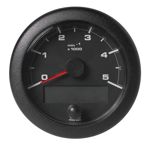 "VDO 3-3/8"" (85mm) OceanLink NMEA 2000 Tach - 5000 RPM - Black Dial & Bezel"