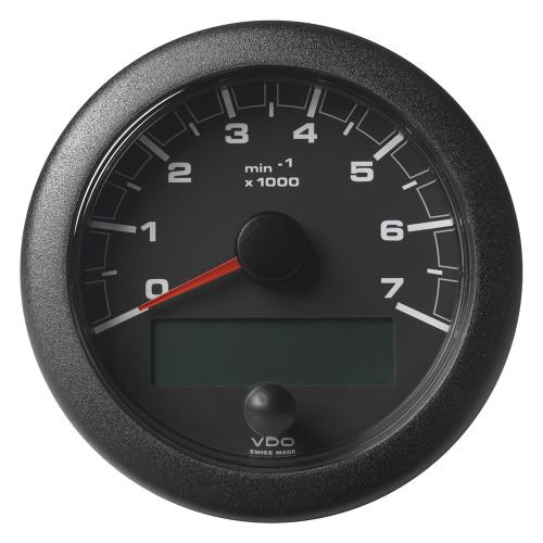 "VDO 3-3/8"" (85mm) OceanLink NMEA 2000 Tach - 7000 RPM - Black Dial & Bezel"