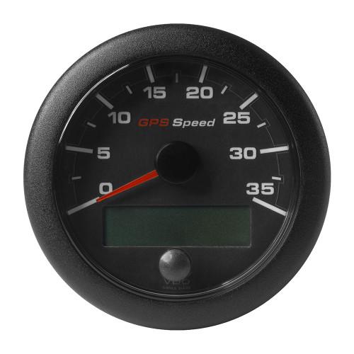 """VDO Marine 3-3\/8"""" (85mm) OceanLink GPS Speedometer - Black Dial  Bezel (0-35 K\/MPH\/KMH)"""