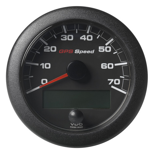 """VDO Marine 3-3\/8"""" (85mm) OceanLink GPS Speedometer - Black Dial  Bezel (0-70 K\/MPH\/KMH)"""