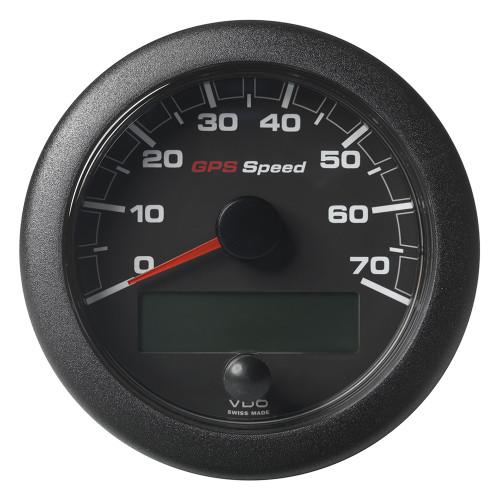 "VDO 3-3/8"" (85mm) OceanLink GPS Speedometer 0-70 - Black Dial & Bezel"