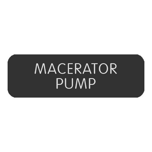 "Blue SeaLarge Format Label - ""Macerator Pump"""