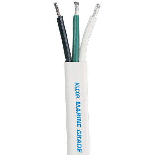 Ancor White Triplex Cable - 8/3 AWG - Flat - 50'